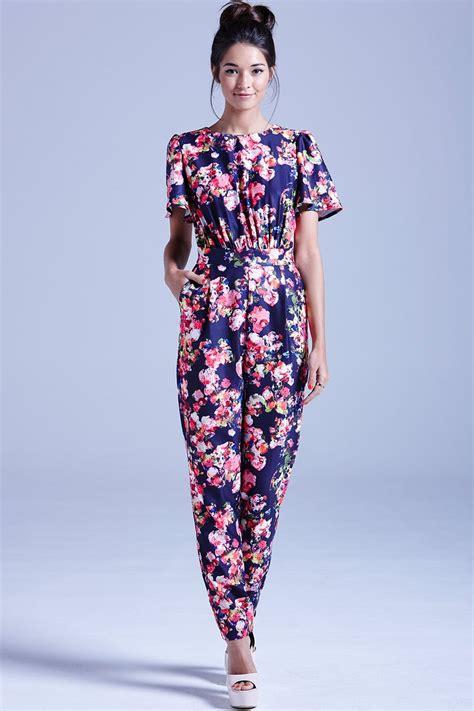 navy kaleidoscope floral jumpsuit