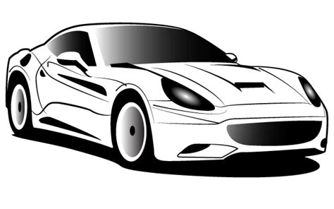 ferrari logo black and white vector ferrari art clipart best