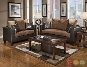 Excellent brown living room furniture for home wall for Black brown living room furniture