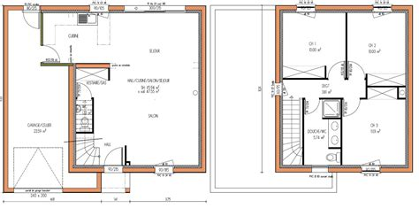 plan maison a etage 3 chambres plan etage maison 3 chambres ventana