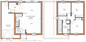 plans maisons on pinterest house plans modern house With plan architecture maison 100m2