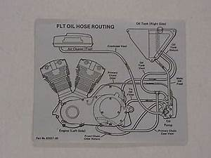 Harley Nos Oil Hose Routing Decal 1980 Flt 62557