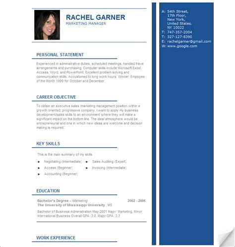 Template Cv Professionnel by Professional Resume Template Resume Cv