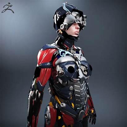Sci Fi Female 3d Character V2 Models
