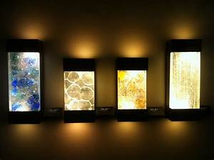 Wall lamp bedroom light up art with led
