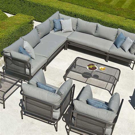 coussin de luxe pour canapé canapé de jardin avec coussins haut de gamme en acier pour