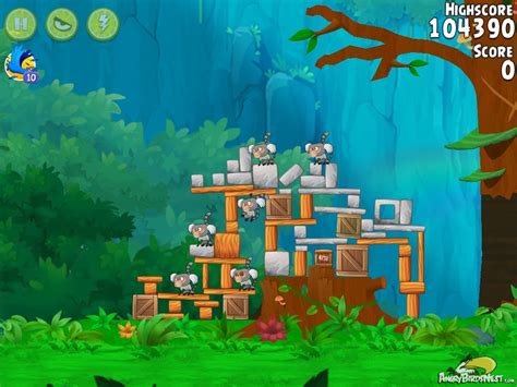 angry birds rio gear  walkthrough level  angrybirdsnest