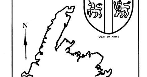 Coat Of Arms Coloring Page With Fleur-de-lis.