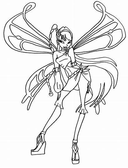 Winx Ausmalbilder Zum Ausmalen Musa Coloring Enchantix