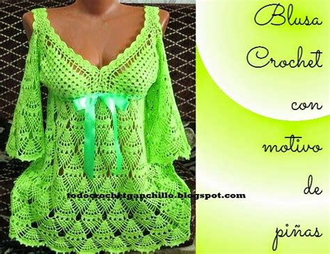 todo crochet patrones ganchillo de blusa en punto pi 241 a crochet crochet i crochet