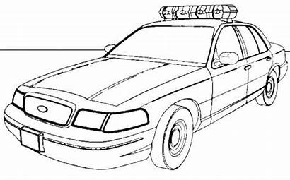 Coloring Police Pages Truck Van Cars Colouring