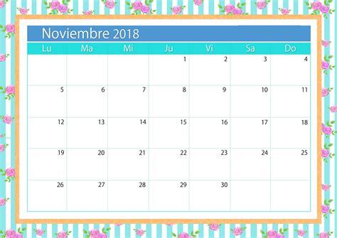 calendario mes de noviembre