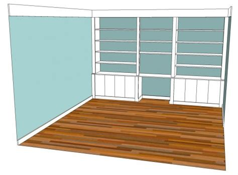 building a bookcase wall choosing cabinet door styles shaker and inset or overlay