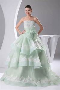 2014 mint green wedding dresses bow applique strapless With mint dresses for wedding