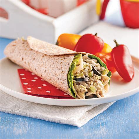 thon cuisine wrap au thon et olives recettes cuisine et nutrition