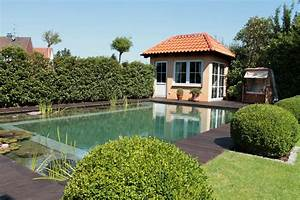 Langsam Wachsende Hecke : schwimmteich mit mediterraner sauna seerosen ~ Michelbontemps.com Haus und Dekorationen