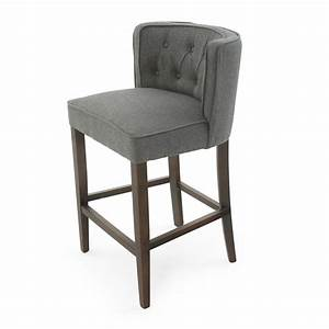 Elegant, Curved, Back, Fabric, Bar, Counter, Stools, Bs01038