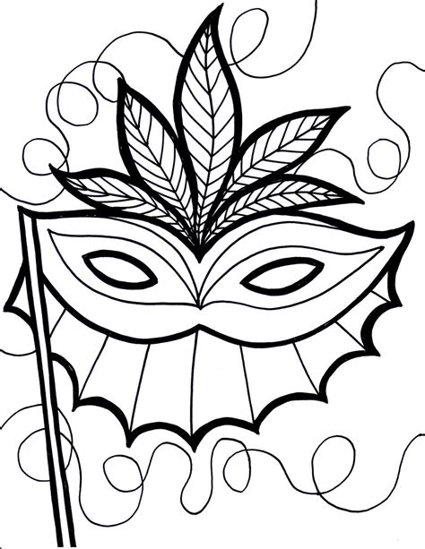 free printable mardi gras coloring pages for