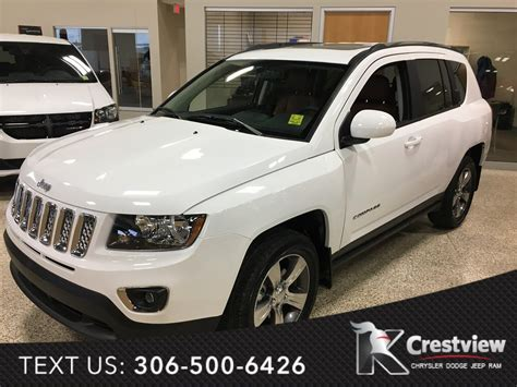 jeep compass sunroof new 2017 jeep compass high altitude edition 4x4 sunroof