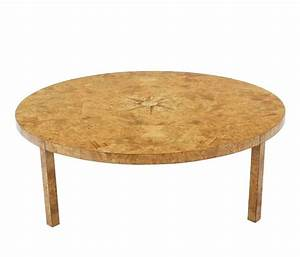 large round burl wood coffee table for sale at 1stdibs With burl wood coffee table for sale