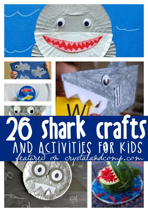 shark week activities and crafts for 850 | shark crafts for kids