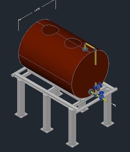 fuel tank  dwg model  autocad designs cad