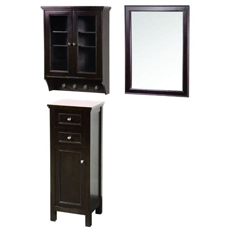 glass door wall cabinet foremost gazette 42 in l x 16 in w wall mirror and wall