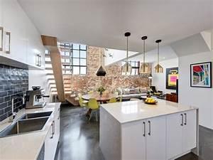 Cuisine Ouverte Sur Salon : cuisine contemporaine ouverte sur salon cuisine en image ~ Dallasstarsshop.com Idées de Décoration