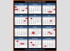 Tamil Nadu Bank Holidays – 2018 – India Bank Holidays