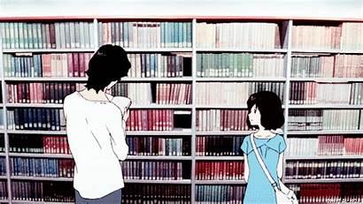 Library Anime Books Gifs Animation Ookami Children