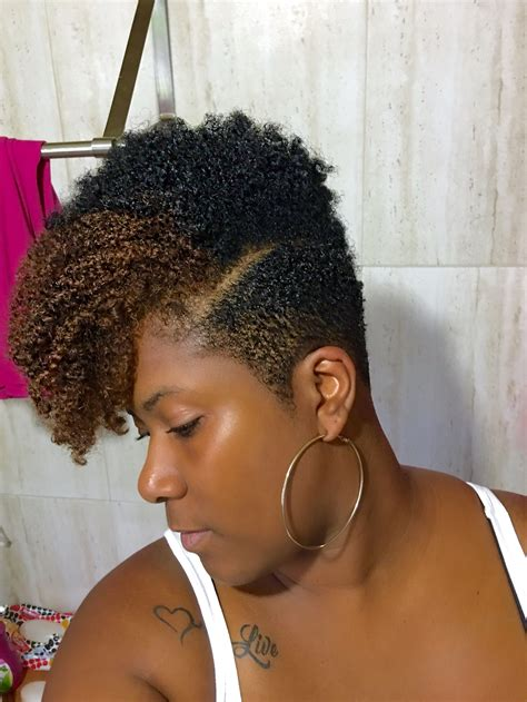 natural mohawk tapered ombre hair cute hair tapered