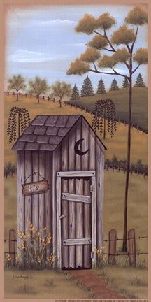 outhouse fine art print  lisa kennedy