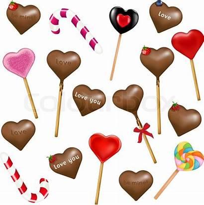 Heart Lollipops Vector Shape Background