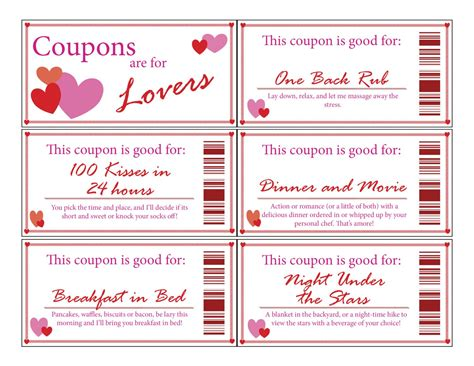 coupons for him template coupon bookprintabledigitalstocking
