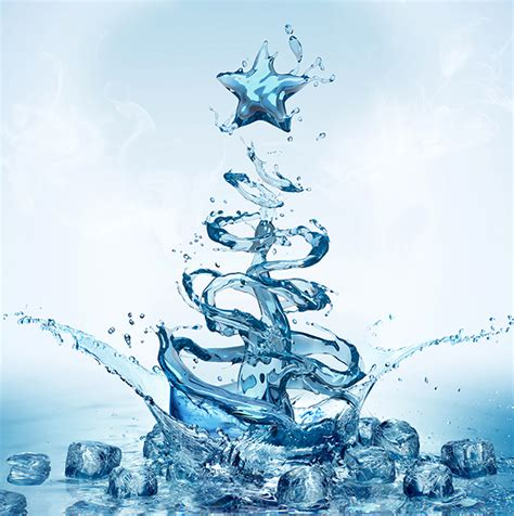 water christmas tree on behance