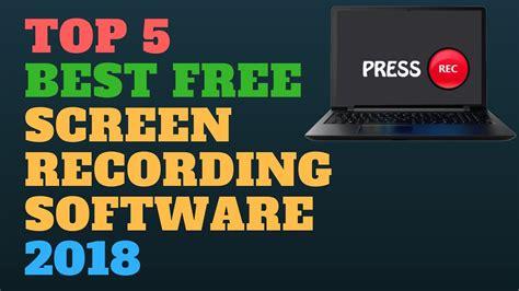 best free screen capture software top 5 best free screen recording software 2018