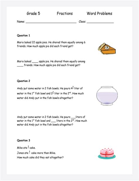 fractions multiplication word problems word problems