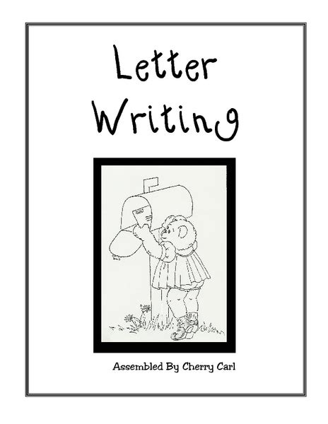 letter writing worksheets printables template