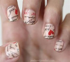 love letter nails with nail tattoos peek ponder With nail on letters