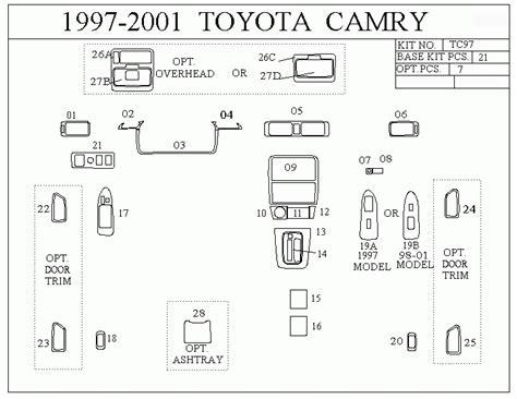 91 Toyotum Camry Fuse Diagram by 1997 Toyota Camry Interior Parts Diagram