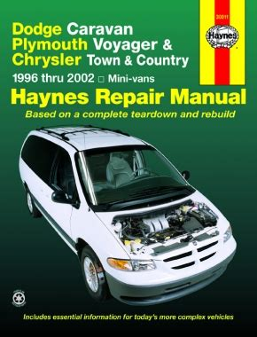 car owners manuals free downloads 2002 chrysler town country engine control chrysler town country 1996 2002 car repair manuals haynes manuals