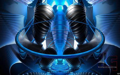 blue technology wallpaper