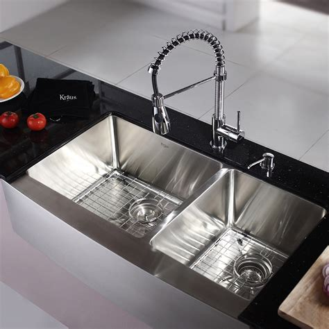 White Kitchen Sink With Stainless Steel Faucet by Stainless Steel Kitchen Sink Combination Kraususa
