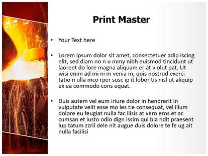 casting text template metal casting powerpoint template background