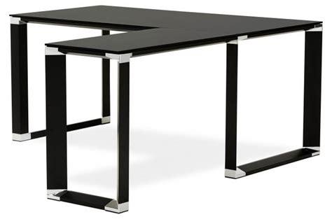 bureau d駱ot bureau d 39 angle en verre wallas noir bureau pas cher