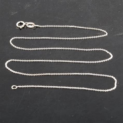 sterling silver rolo chain necklace  italy