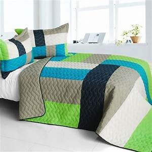Lime Green And Blue Bedding Lime Green Blue Patchwork Teen