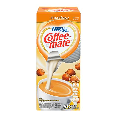 It is made with real milk, cream, sugar and natural. Coffee-Mate - Hazelnut - Liquid Creamer Singles - 50-Piece ...