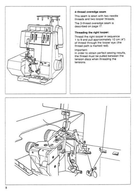 pfaff   hobbylock sewing machine instruction manual