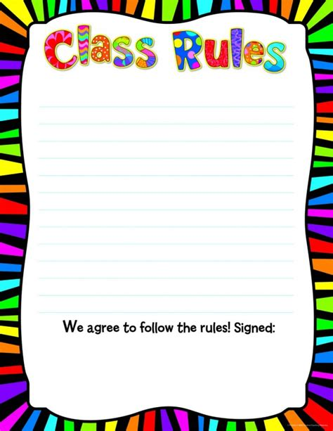 classroom rules template poppin 39 patterns class rules poster chart